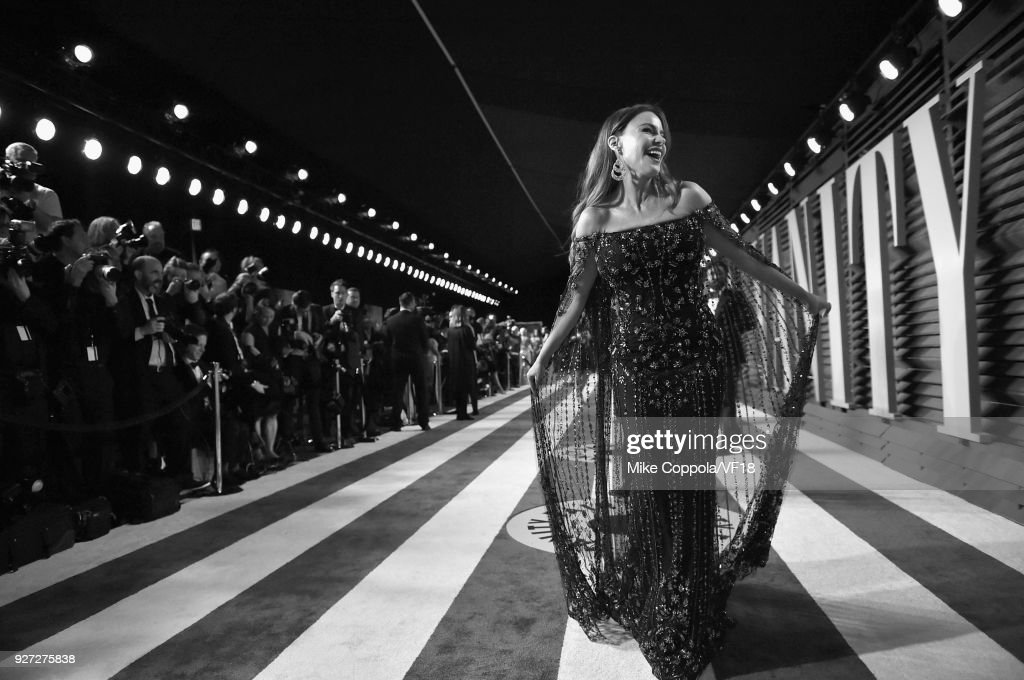 Sofia Vergara attends the 2018 Vanity Fair Oscar Party hosted by Radhika Jones at Wallis Annenberg Center for the Performing Arts on March 4, 2018 in Beverly Hills, California.