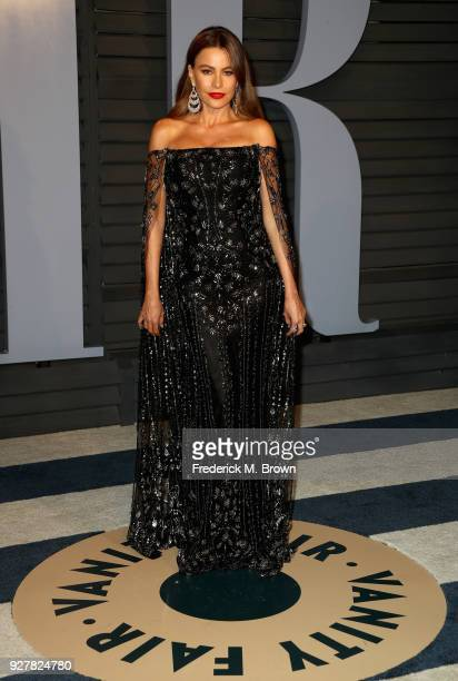 Sofia Vergara attends the 2018 Vanity Fair Oscar Party hosted by Radhika Jones at Wallis Annenberg Center for the Performing Arts on March 4 2018 in...