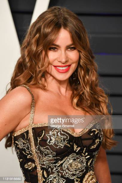 Sofia Vergara attends the 2019 Vanity Fair Oscar Party hosted by Radhika Jones at Wallis Annenberg Center for the Performing Arts on February 24 2019...