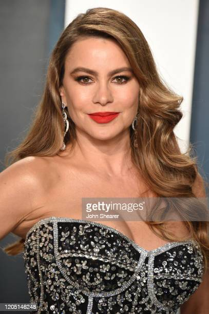 Sofia Vergara attends the 2020 Vanity Fair Oscar Party hosted by Radhika Jones at Wallis Annenberg Center for the Performing Arts on February 09 2020...