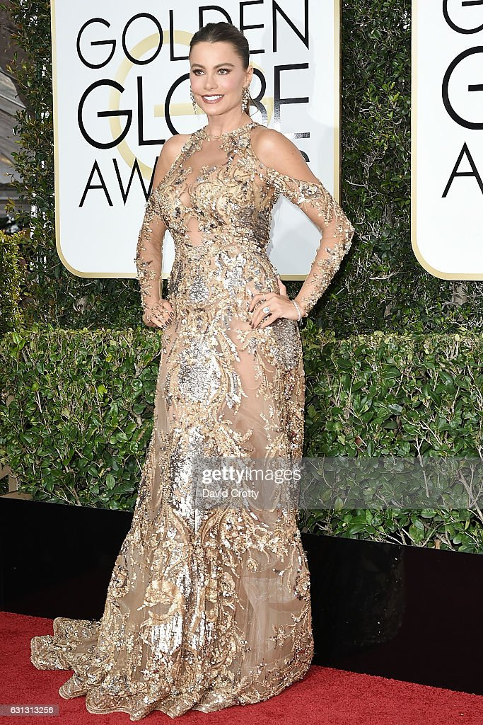 Sofia Vergara attends the 74th Annual Golden Globe Awards - Arrivals at The Beverly Hilton Hotel on January 8, 2017 in Beverly Hills, California.