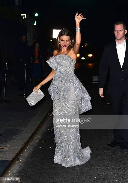 Sofia Vergara attends the after party for the Schiaparelli and Prada Impossible Conversations Costume Institute exhibition at the Ukrainian Institute...