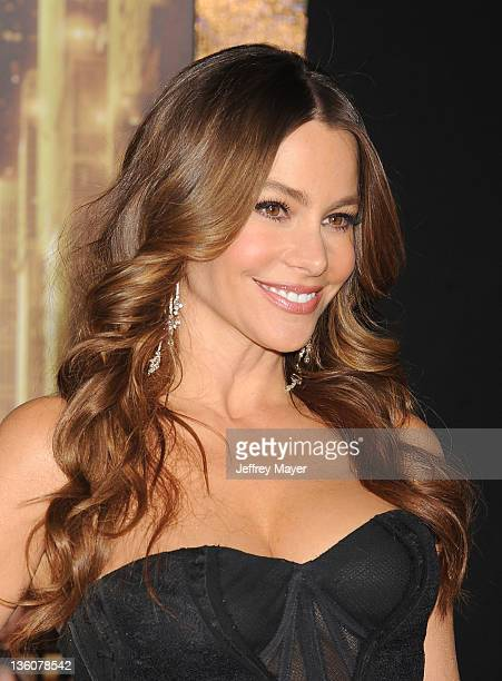 """Sofia Vergara attends the Los Angeles premiere of """"New Year's Eve"""" at Grauman's Chinese Theatre on December 5, 2011 in Hollywood, California."""