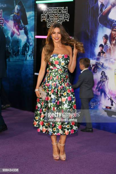 Sofia Vergara attends the Premiere of Warner Bros Pictures' Ready Player One at Dolby Theatre on March 26 2018 in Hollywood California