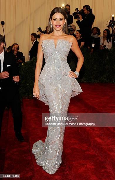 "Sofia Vergara attends the ""Schiaparelli And Prada: Impossible Conversations"" Costume Institute Gala at the Metropolitan Museum of Art on May 7, 2012..."