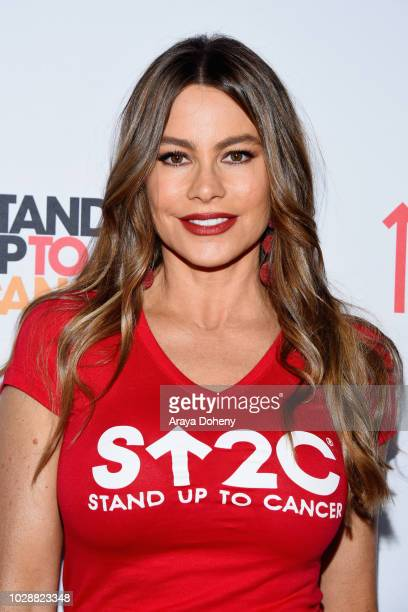 Sofia Vergara attends the sixth biennial Stand Up To Cancer telecast at the Barkar Hangar on Friday September 7 2018 in Santa Monica California