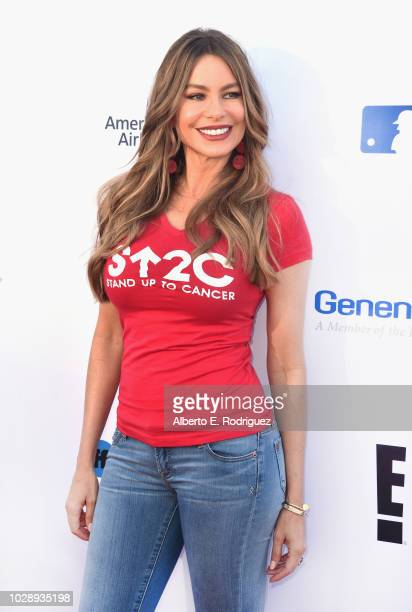 e440f1d5378 Sofia Vergara attends the sixth biennial Stand Up To Cancer telecast at the  Barkar Hangar on