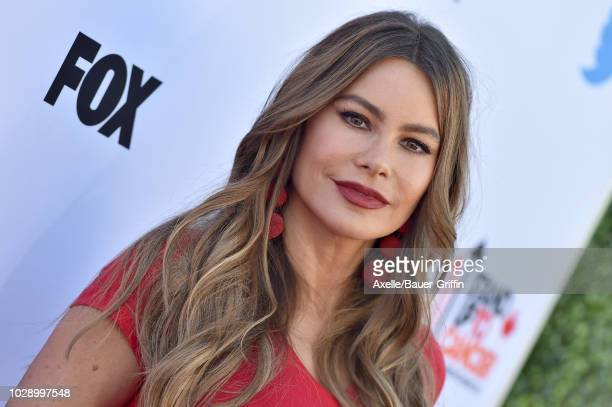 Sofia Vergara attends the sixth biennial Stand Up To Cancer telecast at the Barker Hangar on Friday September 7 2018 in Santa Monica California