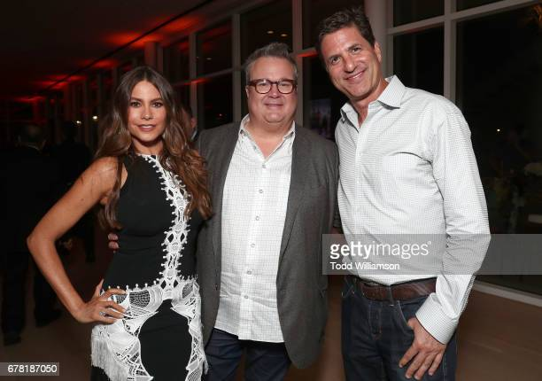 Sofia Vergara Eric Stonestreet and Steven Levitan attend ABC's 'Modern Family' ATAS Event at Saban Media Center on May 3 2017 in North Hollywood...
