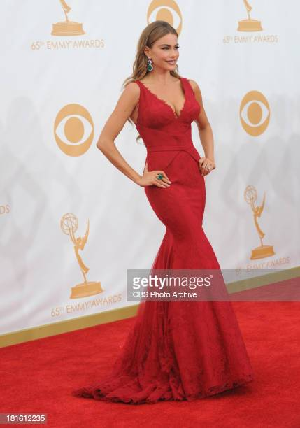 Sofia Vergara from Modern Family on the red carpet for the 65th Primetime Emmy Awards which will be broadcast live across the country 8001100 PM ET/...