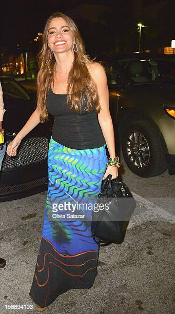 Sofia Vergara is seen at Prime 112 Steakhouse on January 2 2013 in Miami Beach Florida