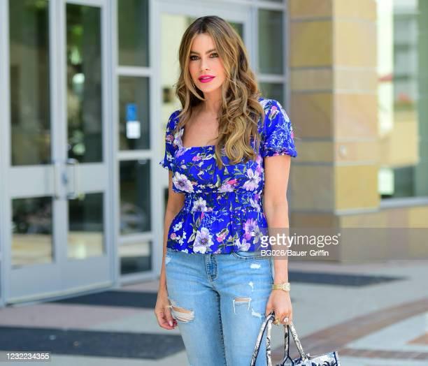 Sofia Vergara is seen on April 10, 2021 in Los Angeles, California.