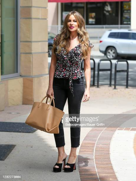Sofia Vergara is seen on April 12, 2021 in Los Angeles, California.