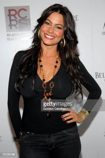 Sofia Vergara poses at the Nikki Beach 10th anniversary party on January 27 2007 in Miami Florida