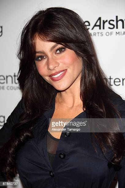 Sofia Vergara poses at the opening of Chicago at the Adrienne Arsht Center on May 18 2009 in Miami Florida