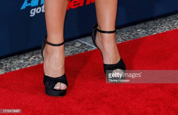 Sofia Vergara shoe detail attends the America's Got Talent Season 15 Kickoff at Pasadena Civic Auditorium on March 04 2020 in Pasadena California
