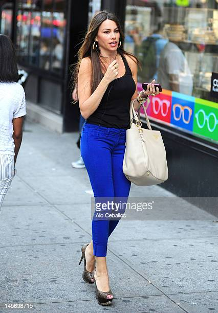 Sofia Vergara sighting on the streets of Manhattan on June 3 2012 in New York City