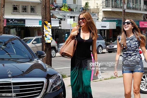 Sofia Vergara spotted with her MercedesBenz S Class on June 29 2014 in New Orleans
