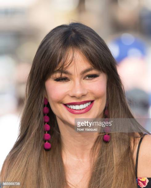 Sofia Vergara visits 'Extra' at Universal Studios Hollywood on October 23 2017 in Universal City California