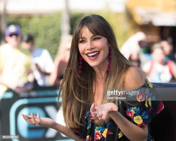 Sofia Vergara visits 'Extra' at Universal Studios Hollywood on October 23 2017 in Universal City California