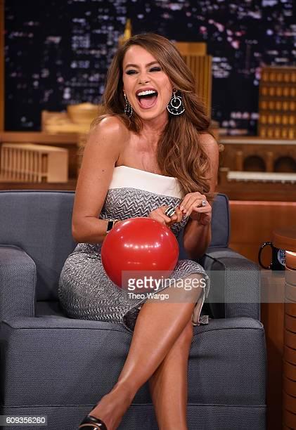 Sofia Vergara Visits 'The Tonight Show Starring Jimmy Fallon' at Rockefeller Center on September 20 2016 in New York City