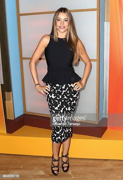 Sofia Vergara visits Univision's Despierta America to talk health love and life at Univision Studios on February 26 2015 in Miami Florida