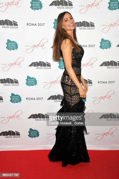 Sofia Vergara walks the red carpet for 'Bent' on April 6 2017 in Rome Italy