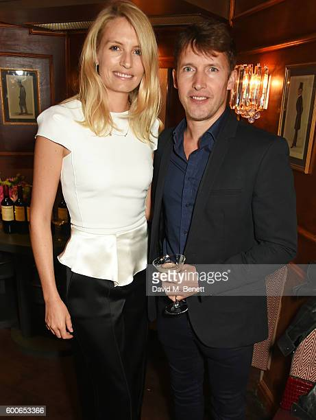 Sofia Wellesley and James Blunt attend a private dinner to celebrate the Lady Garden x Topshop collection launch in support of the Gynaecological...