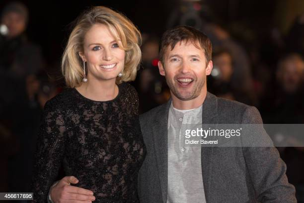 Sofia Wellesley and James Blunt attend the 15th NRJ Music Awards at Palais des Festivals on December 14, 2013 in Cannes, France.