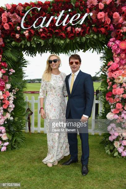 Sofia Wellesley and James Blunt attend the Cartier Queen's Cup Polo at Guards Polo Club on June 17 2018 in Egham England
