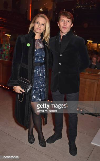 Sofia Wellesley and James Blunt attend The Fayre Of St James's Christmas Concert presented by the Quintessentially Foundation and the Crown Estate in...