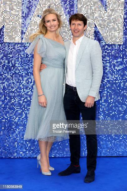 """Sofia Wellesley and James Blunt attend the """"Rocketman"""" UK premiere at Odeon Luxe Leicester Square on May 20, 2019 in London, England."""