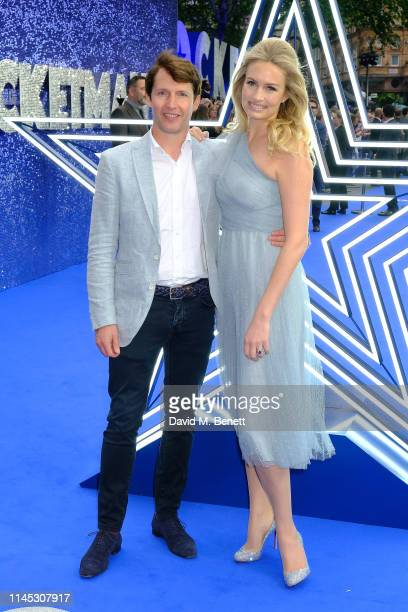 """Sofia Wellesley and James Blunt attend the UK Premiere of """"Rocketman"""" at Odeon Luxe Leicester Square on May 20, 2019 in London, England."""