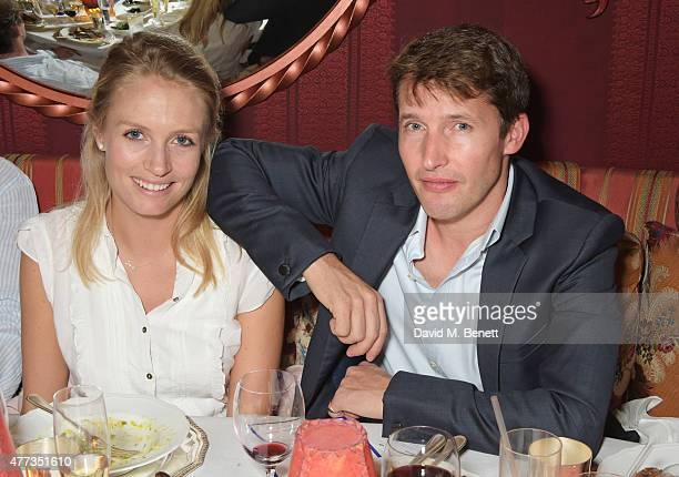 Sofia Wellesley and James Blunt attend the Walkabout Foundation Event hosted by Dee Ocleppo And Tommy Hilfiger at Loulou's at 5 Hertford Street on...