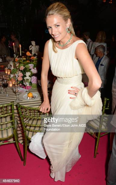Sofia Wellesley attends the Woodside End of Summer party to benefit the Elton John AIDS Foundation sponsored by Chopard and Grey Goose at Woodside on...