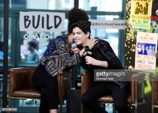 Sofia Wylie and Joshua Rush attend Build Series to discuss 'Andi Mack' at Build Studio on February 21 2018 in New York City