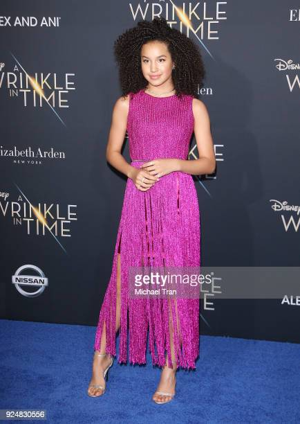 """Sofia Wylie arrives at the Los Angeles premiere of Disney's """"A Wrinkle In Time"""" held at El Capitan Theatre on February 26, 2018 in Los Angeles,..."""