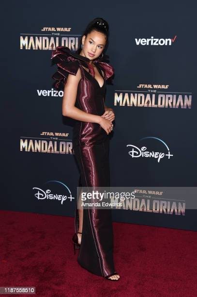 Sofia Wylie arrives at the premiere of Disney's The Mandalorian at the El Capitan Theatre on November 13 2019 in Los Angeles California