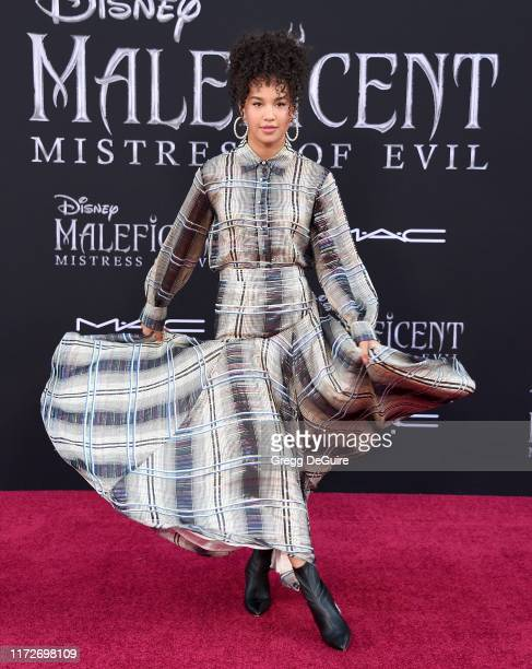 """Sofia Wylie arrives at the World Premiere Of Disney's """"Maleficent: Mistress Of Evil"""" at El Capitan Theatre on September 30, 2019 in Los Angeles,..."""