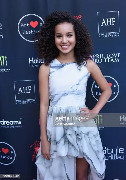 Sofia Wylie at Los Angeles Fashion Week SS18 Art Hearts Fashion LAFW on October 7 2017 in Los Angeles California