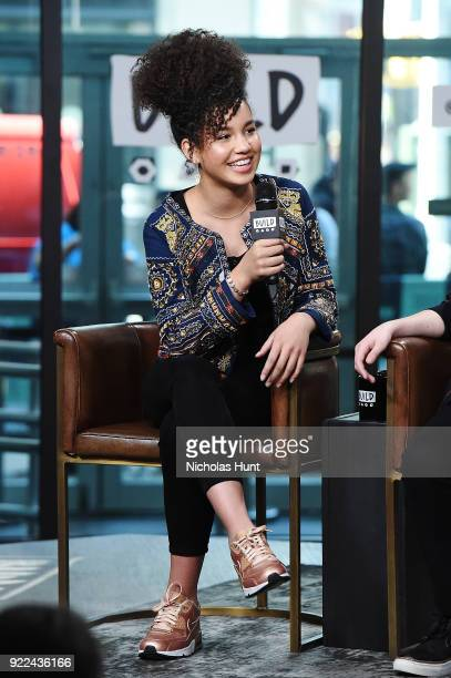 Sofia Wylie attends Build Series to discuss 'Andi Mack' at Build Studio on February 21 2018 in New York City
