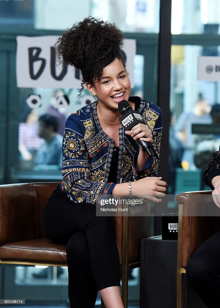 Sofia Wylie attends Build Series to discuss 'Andi Mack' at Build Studio on February 21, 2018 in New York City.