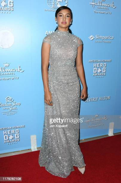 Sofia Wylie attends the 9th Annual American Humane Hero Dog Awards at The Beverly Hilton Hotel on October 05 2019 in Beverly Hills California