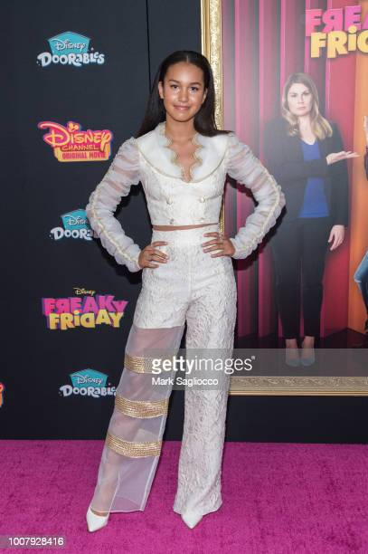 Sofia Wylie attends the Freaky Friday New York Premiere at The Beacon Theatre on July 30 2018 in New York City