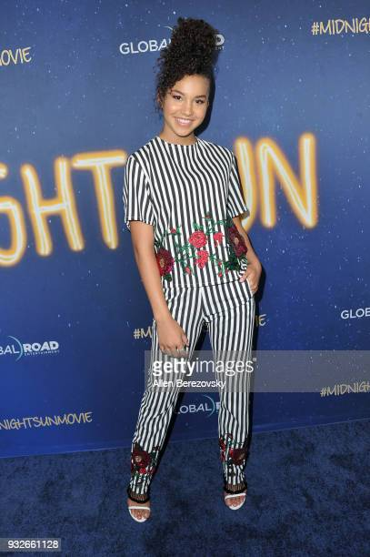 Sofia Wylie attends the Global Road Entertainment's World Premiere of Midnight Sun at ArcLight Hollywood on March 15 2018 in Hollywood California