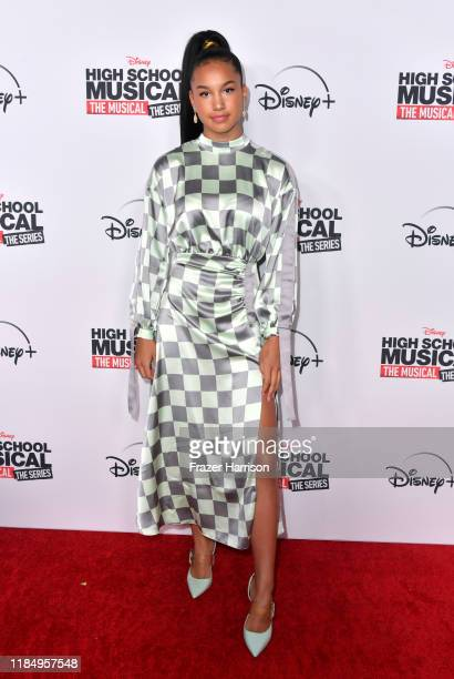 """Sofia Wylie attends the Premiere Of Disney+'s """"High School Musical: The Musical: The Series"""" at Walt Disney Studio Lot on November 01, 2019 in..."""