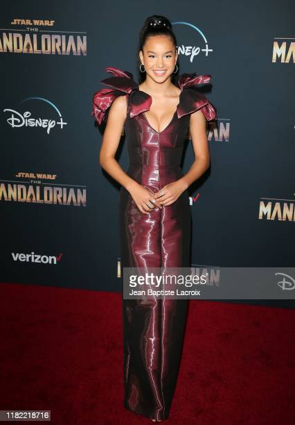 Sofia Wylie attends the premiere of Disney's The Mandalorian at the El Capitan Theatre on November 13 2019 in Los Angeles California