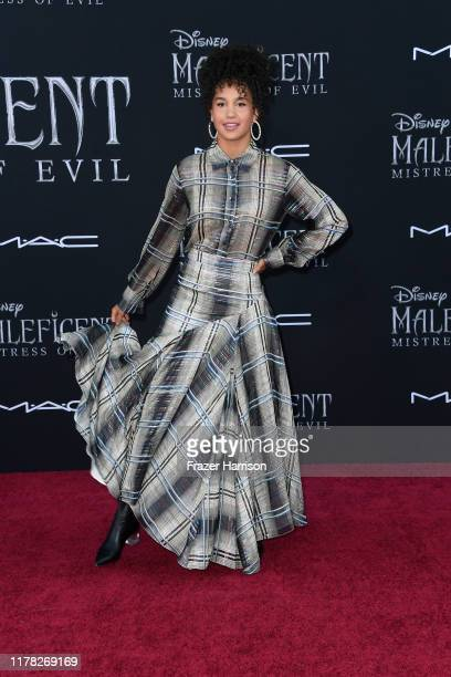 """Sofia Wylie attends the World Premiere Of Disney's """"Maleficent: Mistress Of Evil"""" - Red Carpet at El Capitan Theatre on September 30, 2019 in Los..."""