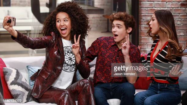 Sofia Wylie, Joshua Bassett and Olivia Rodrigo visit's People Now on November 5, 2019 in New York, United States.
