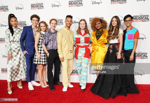 Sofia Wylie, Joshua Bassett, Kate Reinders, Larry Saperstein, Mark St. Cyr, Julia Lester, Dara Renee, Olivia Rodrigo and Frankie Rodriguez attend the...